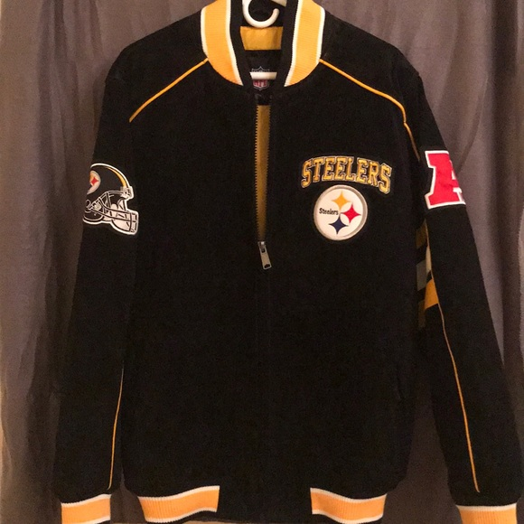 4565dbac5 NWT NFL Leather Steelers Jacket-Medium